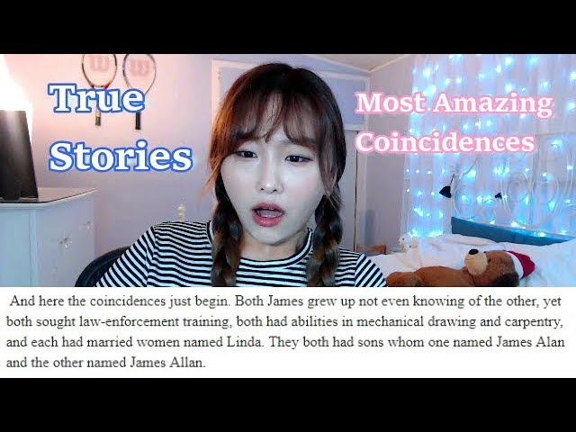 REACTING TO MOST AMAZING COINCIDENCES