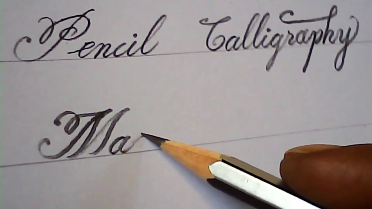 Amazing Pencil Calligraphy Youtube