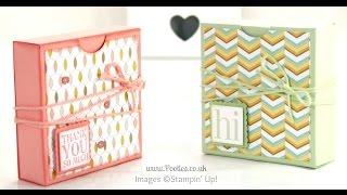 Fold Flat Box Tutorial for 3x3 Cards & Envelopes