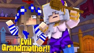 EVIL GRANDMA COMES TO TOWN!! w/Little Carly and Little Kelly (Minecraft Roleplay)