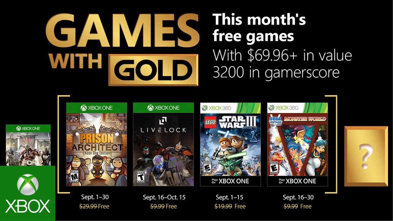 Xbox September 2018 Games With Gold Youtube