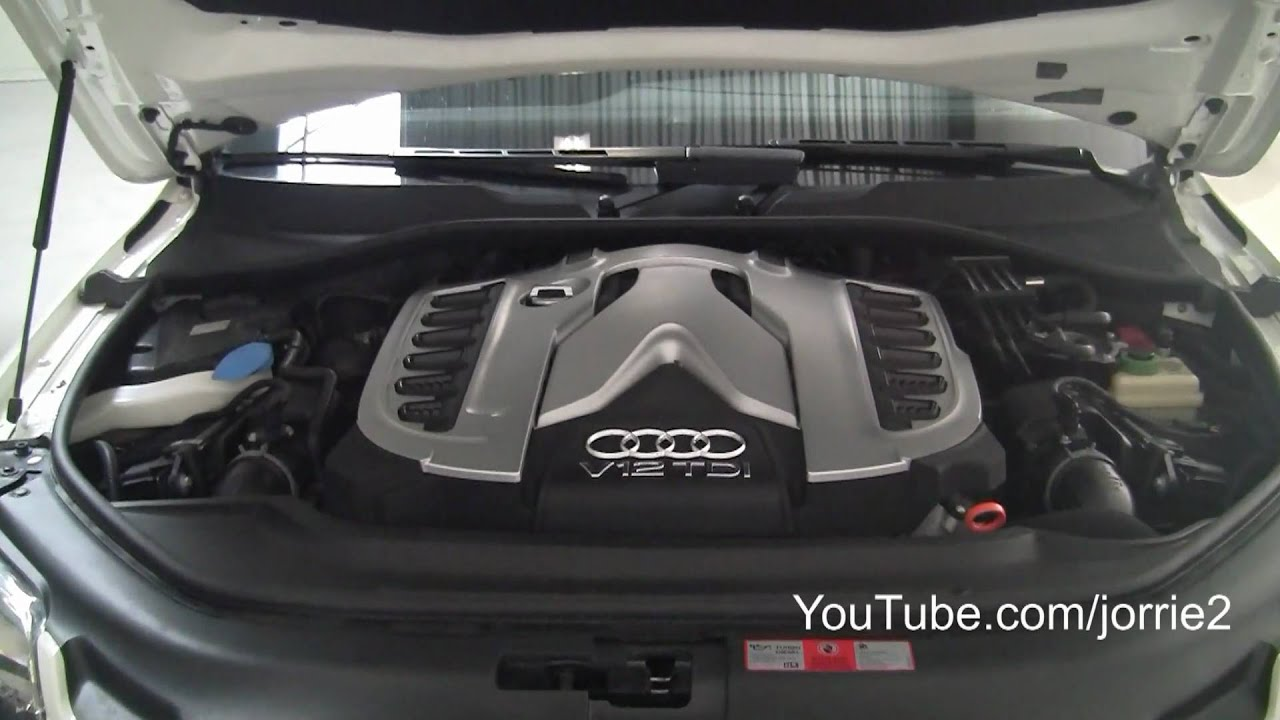 White Audi Q7 V12 Tdi Challenge Stradale Sound 1080p