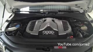 White Audi Q7 V12 TDI + Challenge Stradale Sound! - 1080p HD