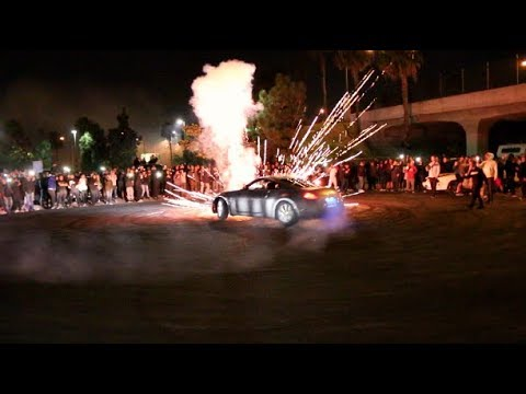 FIREWORK FAILS TO LAUNCH! Biggest Car Meet Of The Year!