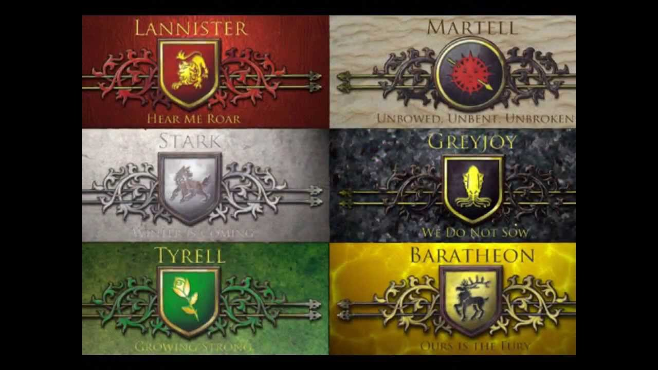 game of thrones houses of the seven kingdoms youtube. Black Bedroom Furniture Sets. Home Design Ideas
