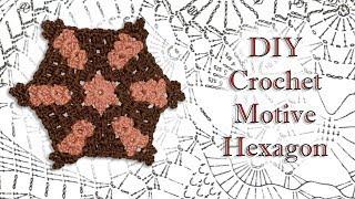 Solid hexagon, DIY How To Crochet African Flower, Star flower / Шестиугольник крючком Мотив МК