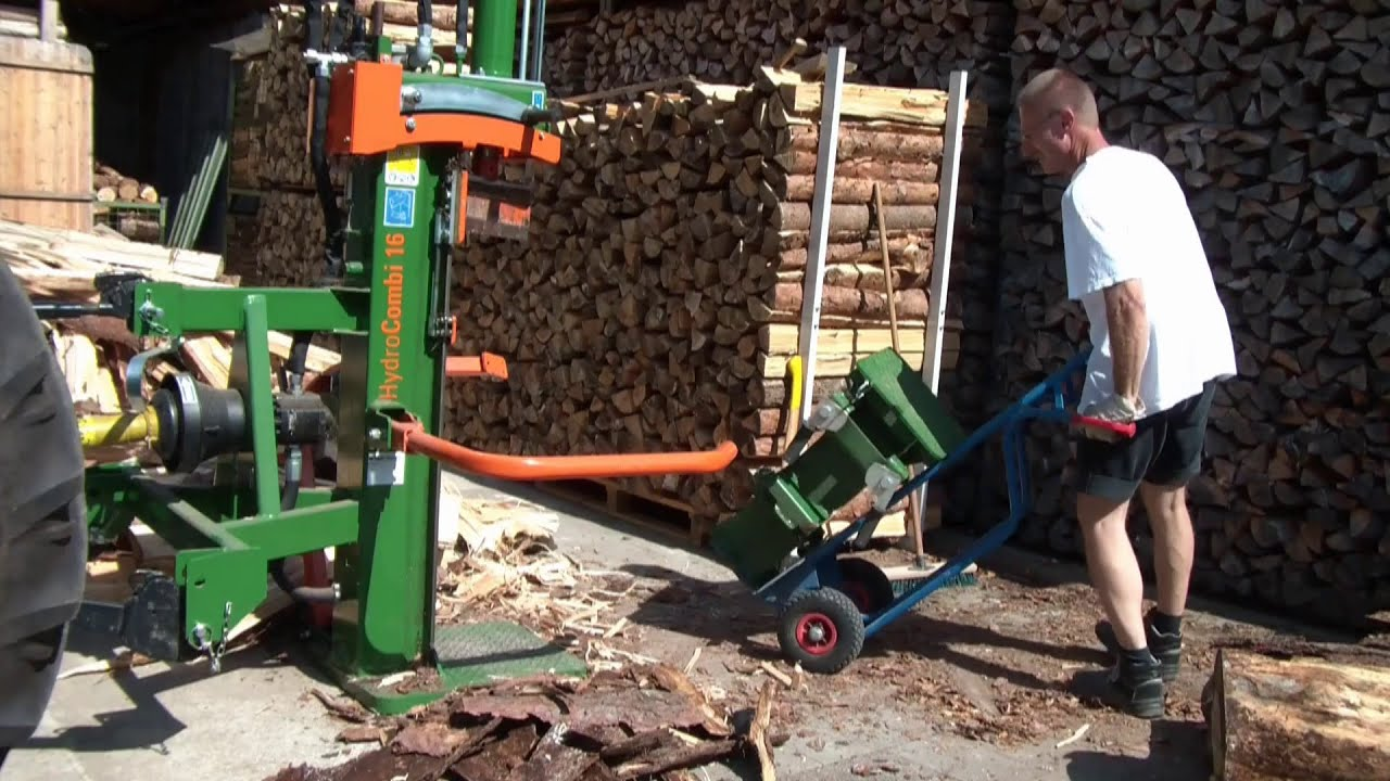 holzspalter posch hydrocombi mit spalttisch im einsatz wood splitter in action youtube. Black Bedroom Furniture Sets. Home Design Ideas
