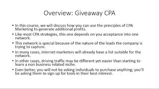 CPA Marketing (Giveaway)