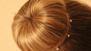"""❤️DD❤️ как сделать """"бабетту"""" (или бублик) на волосах"""
