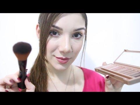 🎧 ASMR: MAQUIAGEM QUE DÁ SONO 💄 Makeup Artist Roleplay   Binaural   Brasil