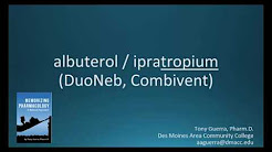 How to pronounce albuterol with ipratropium (DuoNeb, Combivent) (Memorizing Pharmacology Flashcard)