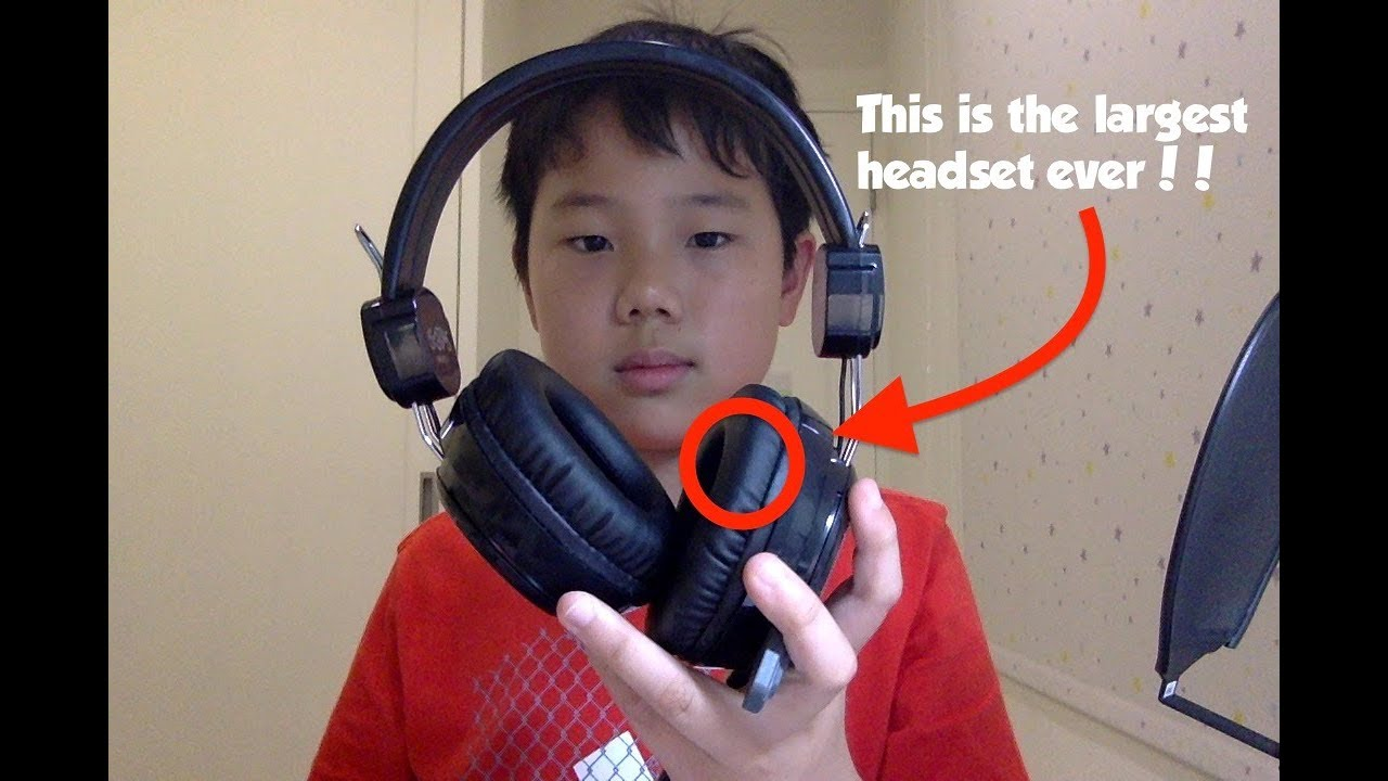 the biggest headset ever kinyo dark knight pro gaming headset unboxing youtube. Black Bedroom Furniture Sets. Home Design Ideas