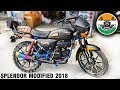hero splendor modified like mini Harley Part-1 |2018 | Kamal auto nikhar & Graphics | Uttarakhand