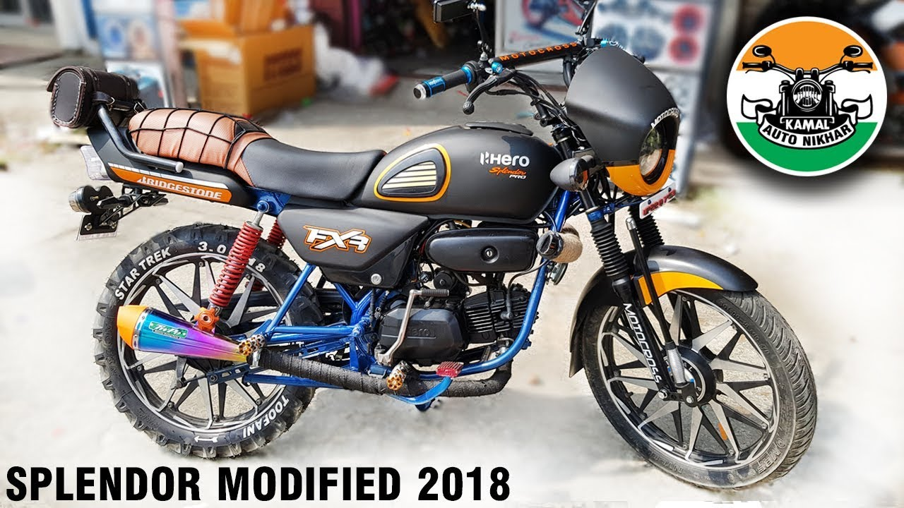 Splendor Modified Wheels, Hero Splendor Modified Like Mini Harley Part 1 2018 Kamal Auto Nikhar Graphics Uttarakhand, Splendor Modified Wheels