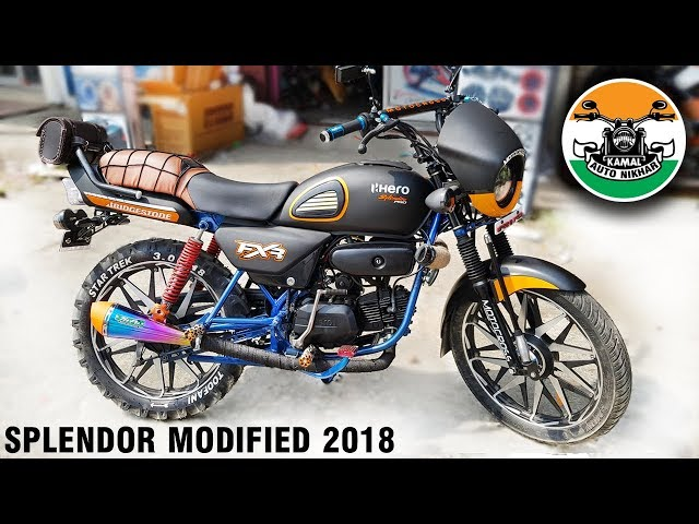 hero splendor modified like mini Harley Part-1 |2018 | Kamal auto nikhar & Graphics | Uttarakhand