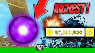 BECOMING THE TOP PLAYER IN DESTRUCTION SIMULATOR!! *RICHEST* (Roblox)