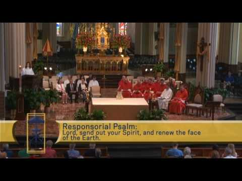 Basilica of Notre Dame Pentcost Sunday televised mass   4 June  2017