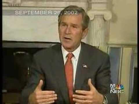 Iraq War - Bush claims of Iraq