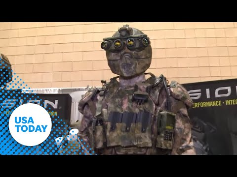 Military suit with suspended armor, computer makes debut