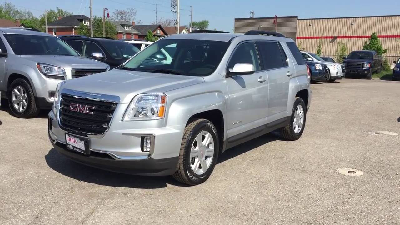 2016 Gmc Terrain Sle Fwd Silver Oshawa On Stock 161049