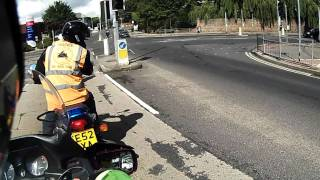 Lesson - A motorcycle lesson. Test training