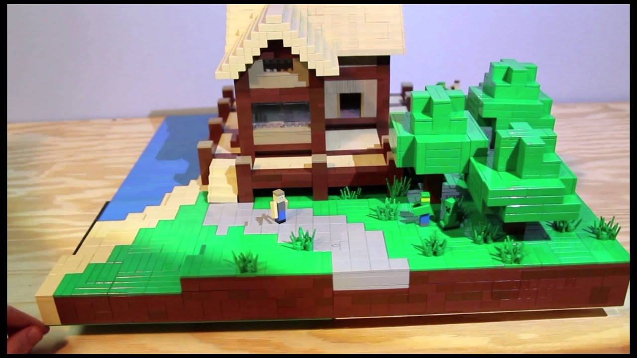 Lego Minecraft Plot Creation  Beach House