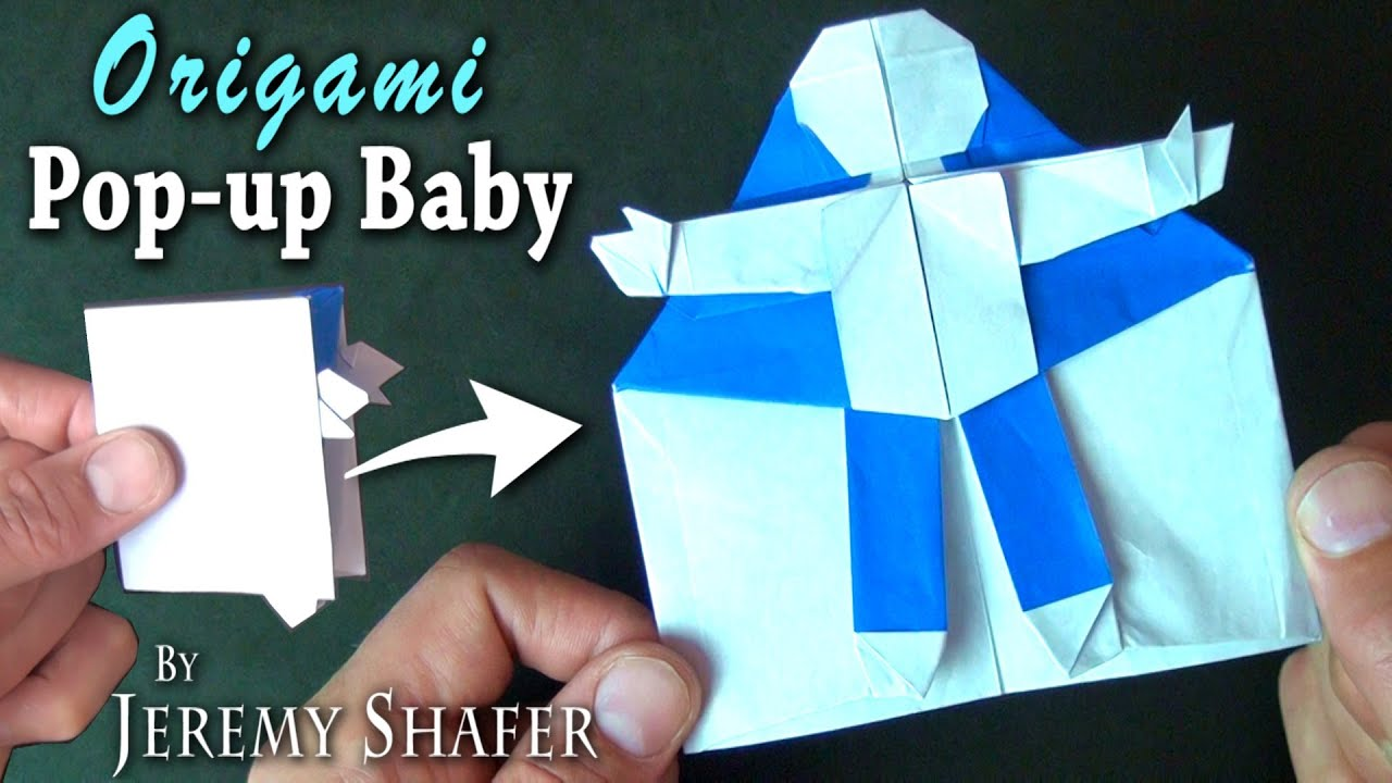 Origami Baby Pop Up Card Youtube