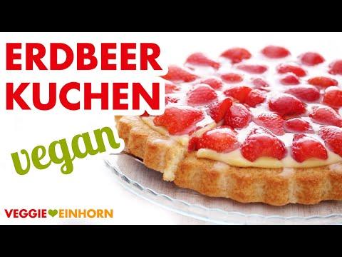 einfacher-veganer-erdbeerkuchen-mit-vanillepudding- -kuchen-mit-veganem-biskuit-backen