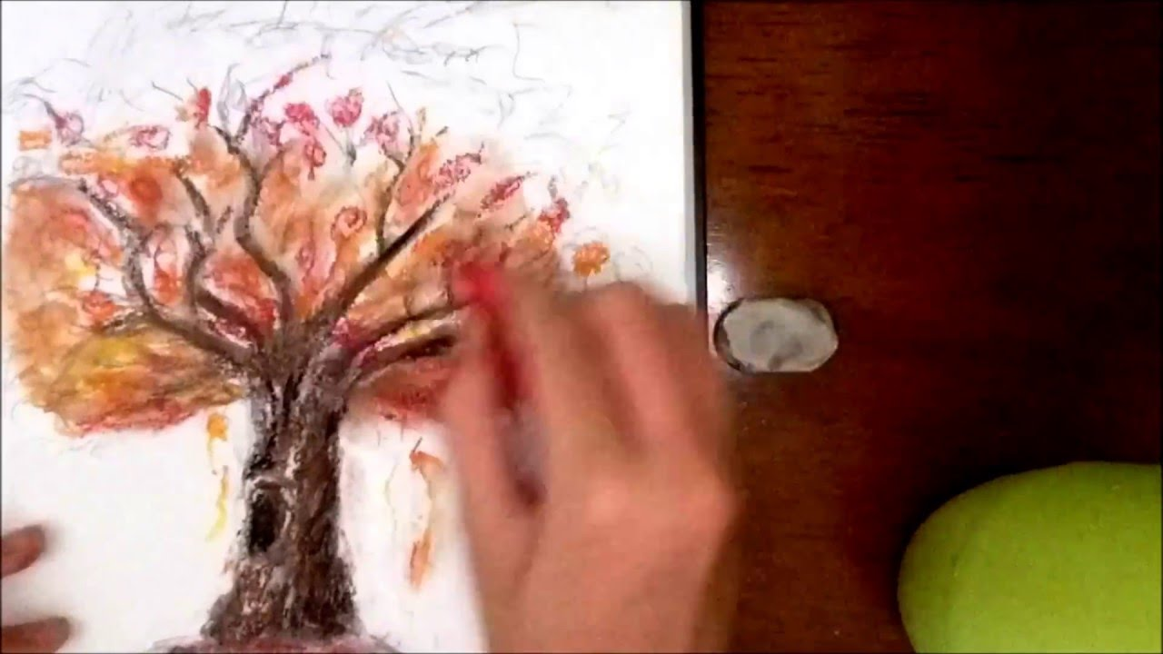 Realistic Pastel Autumn Tree Time Lapse Youtube