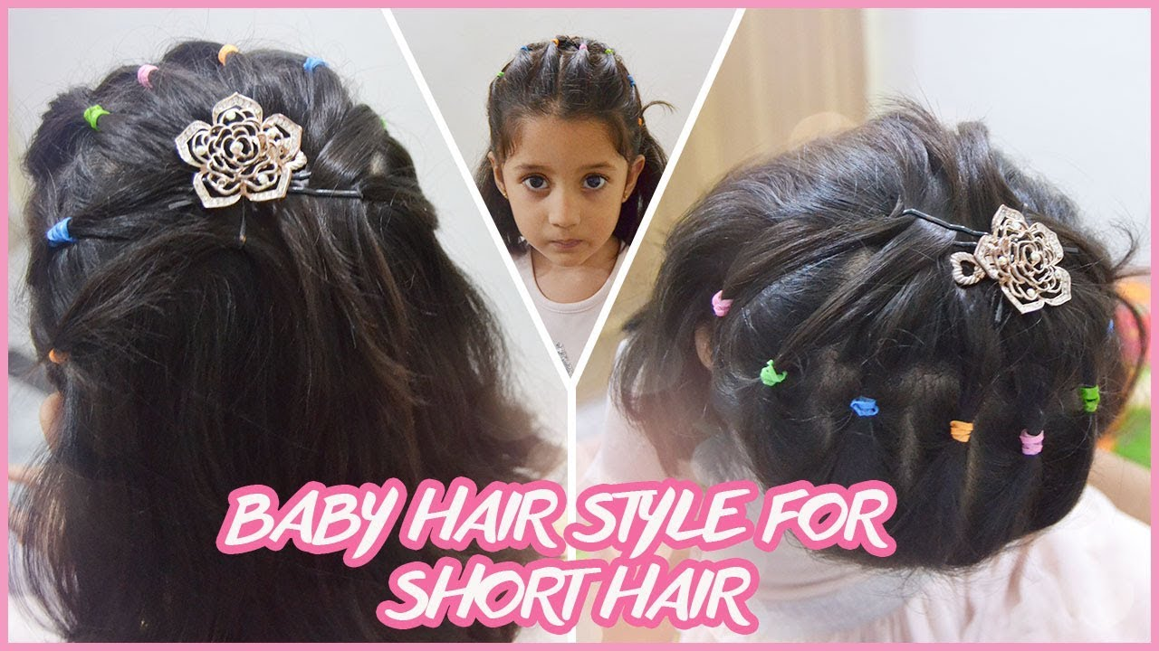Hair style for baby girl  Baby Hair Style For Short Hair