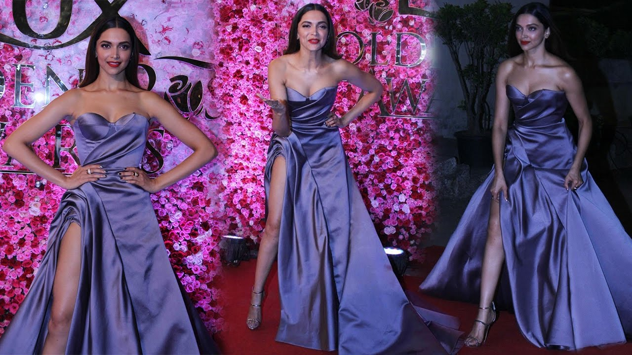 Gorgeous Deepika Padukone in Strapless Gown At Lux Golden Rose Awards 2016