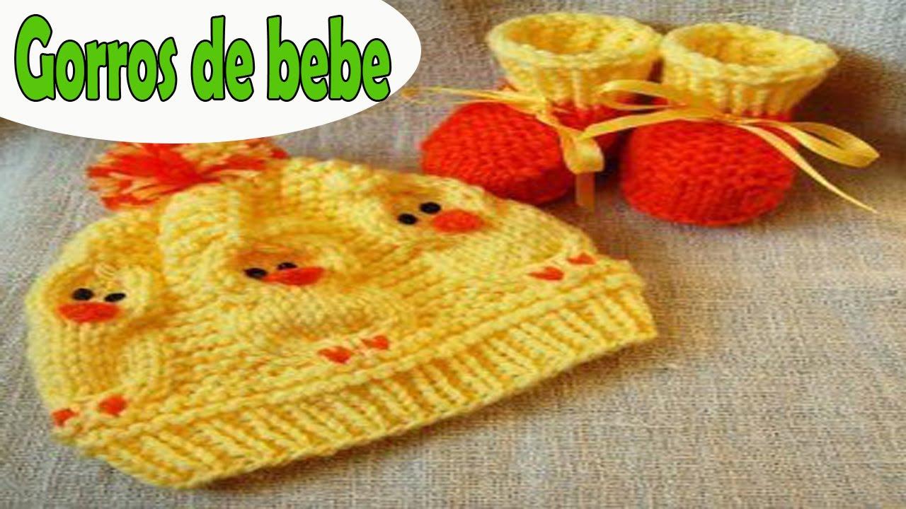 Gorros para bebe recien nacidos tejida a crochet ganchillo diseños imagenes  - YouTube a66ed0cbab3