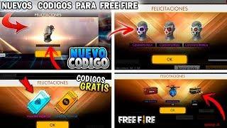 NUEVOS CODIGOS PARA OBTENER REGALOS GRATIS EN FREE FIRE - SON REGALOS INCREIBLES