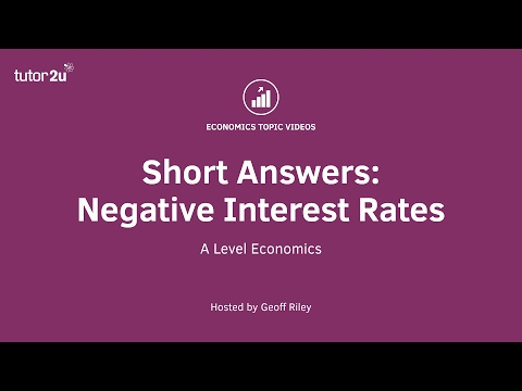 Short Answers - Negative Interest Rates