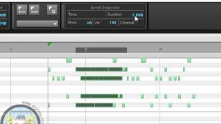Cakewalk SONAR: Event Inspector Editing