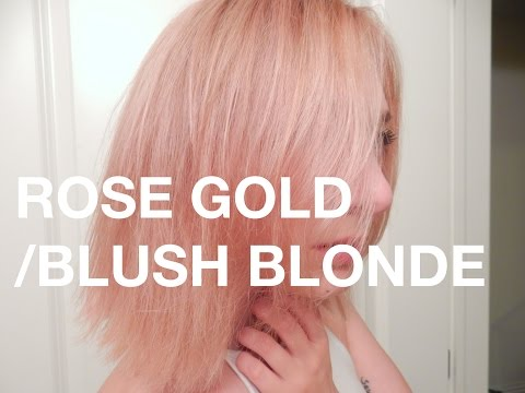 DEMO: ROSE GOLD/BLUSH BLONDE/PASTEL PINK HAIR