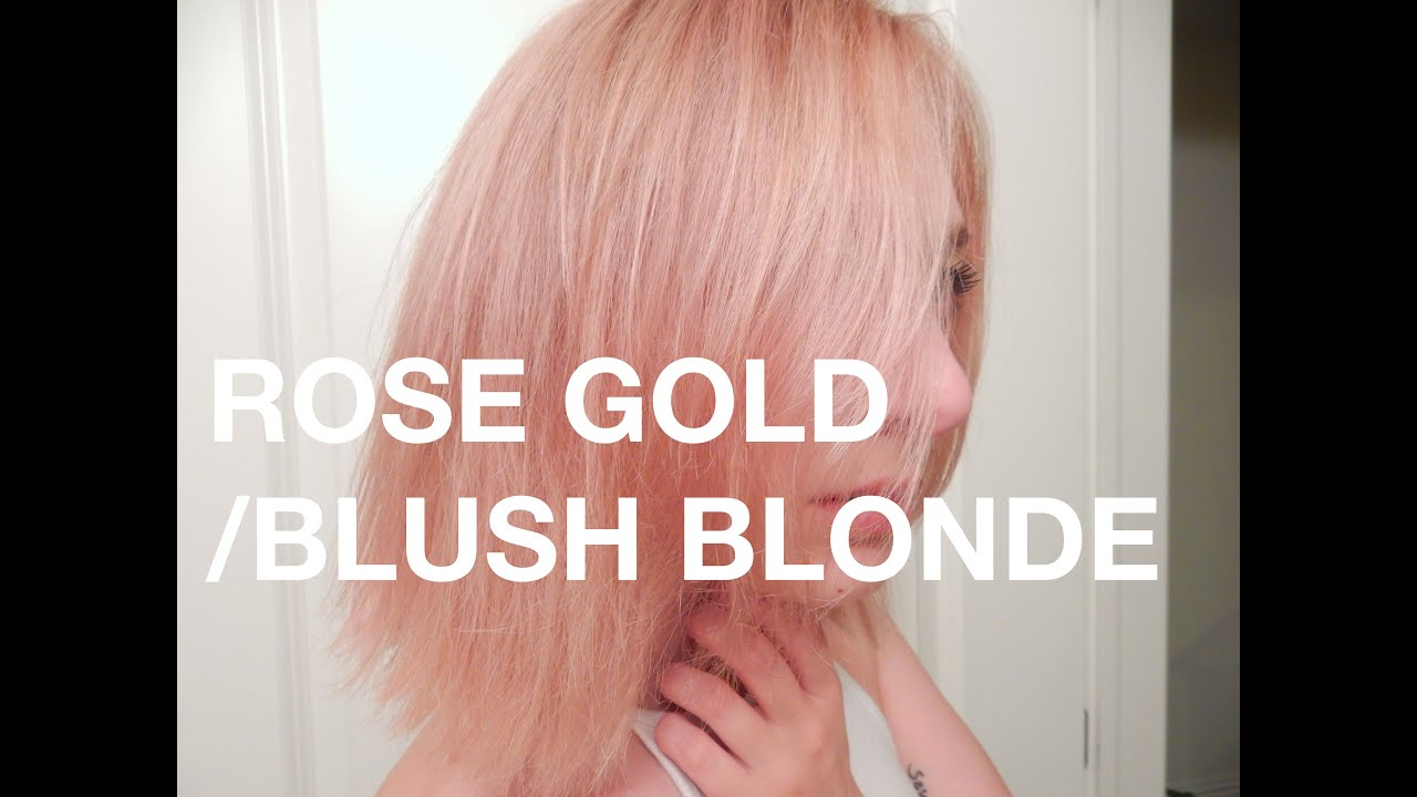 Demo Rose Gold Blush Blonde Pastel Pink Hair Youtube
