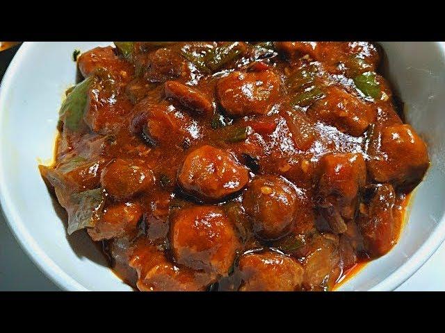Chilli Soya Chunks Recipe I Soya Chilli Recipe I Soyabean Chilli I Chilli Soyabean Youtube