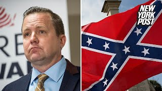 Virginia's GOP pick salutes the Confederate flag and all it stands for