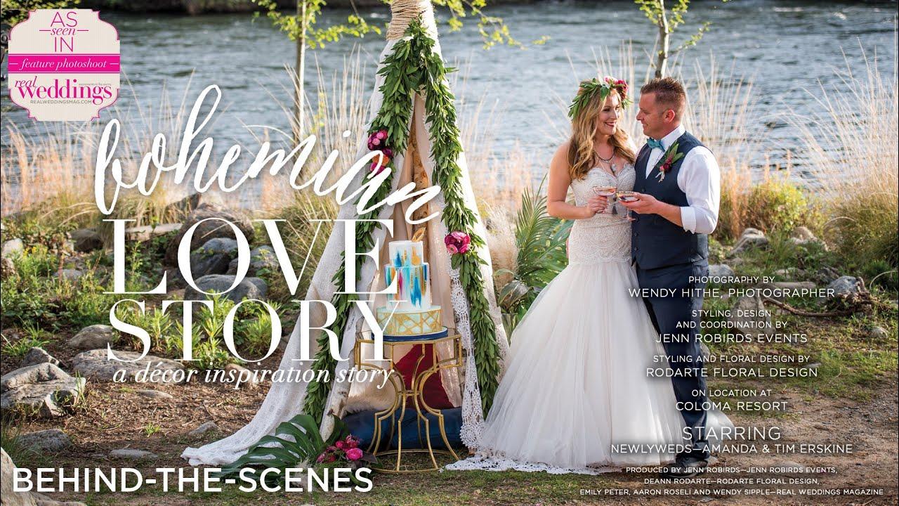 Sacramento Wedding Inspiration Bohemian Love Story Behind The