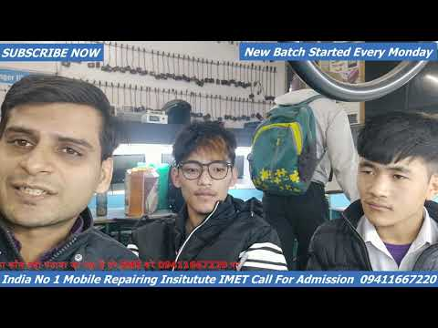 Mobile Repairing Course Review by Students Come From Nepal For Admission Call 9411 667 220