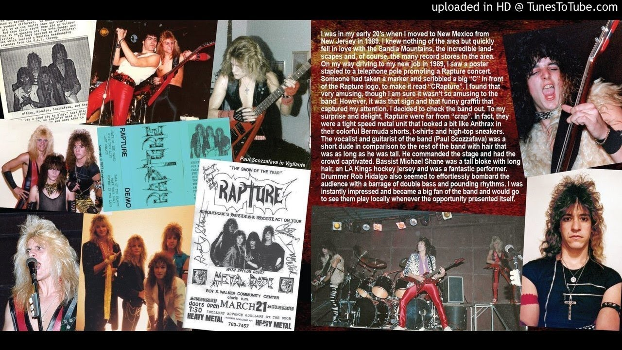 RAPTURE - VACATION FROM HELL: The Demos 1985-1997 (2-CD Set, 2019