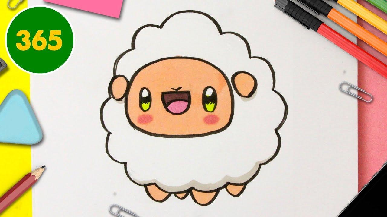 Comment Dessiner Un Mouton Kawaii Pas à Pas Comment Dessiner Des Animaux Kawaii
