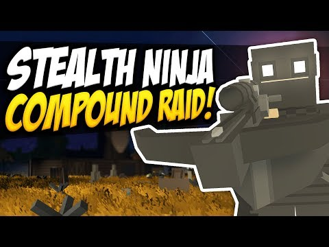 STEALTH NINJA COMPOUND RAID - Unturned Base Raid   Using Darkness For Cover! thumbnail