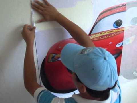 Instrucciones para colocar un vinil grande en pared youtube - Pegar vinilo en pared ...