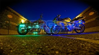 LEDGlow's Advanced Million Color Motorcycle Lighting Kit