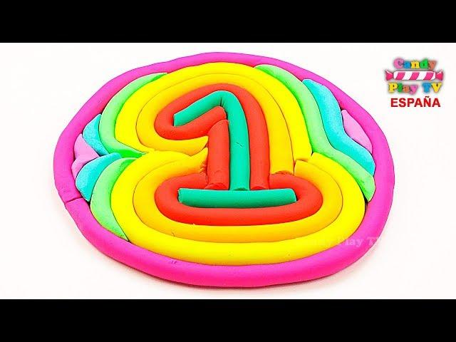 Aprender colores en español para niños | Como hacer los número uno en plastilina Play Doh