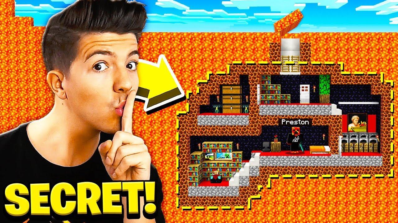 I Found Prestonplayz Secret Underground Minecraft Base