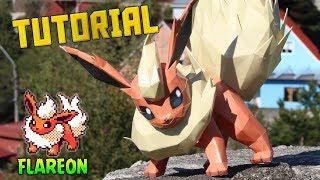 Tutorial ★ Como hacer a Flareon de Papel - Pokemon Papercraft