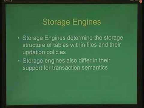 Lecture - 32 Case Study : MYSQL